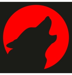 Avatar wolf and moon vector