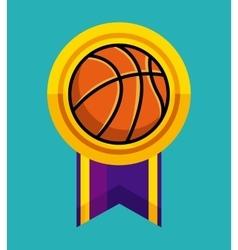 basketball medal icon vector image