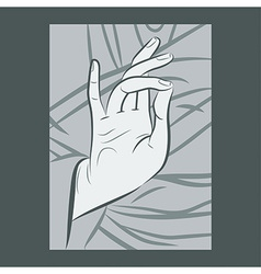 Blessing hand vector