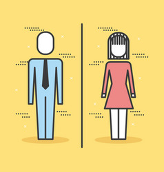 business people man and woman stand character vector image