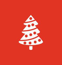 Christmas tree icon new year and xmas christmas vector