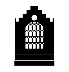 Church building black color icon vector