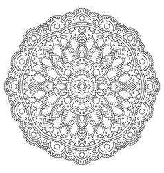 Circle floral pattern vector image