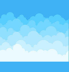 cloud sky cartoon background blue sky with white vector image