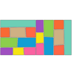 comic colorful mockup concept vector image