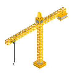 construction crane icon isometric style vector image