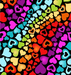 cute hearts vector image