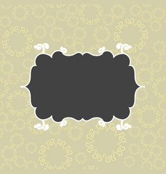 Cute vintage seamless pattern for postcard vector