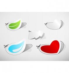 cutout icons vector image