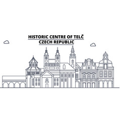 Czech republic - telc travel famous landmark vector