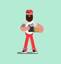 delivery sketch boy vector image