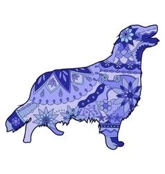 Dog blue vector image