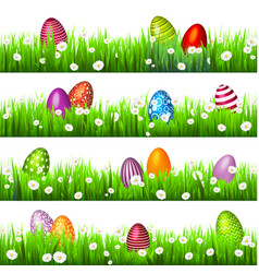 easter egg on green grass seasonal holidays vector image