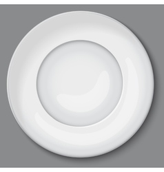 Empty white plate vector