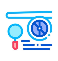engine magnifier icon outline vector image