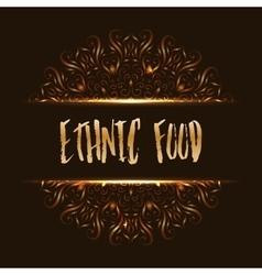 Ethnic food logo mandala design vector