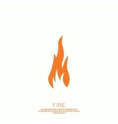 Fire flames Icon vector image