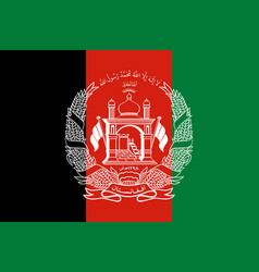 flag of islamic republic of afghanistan official vector image