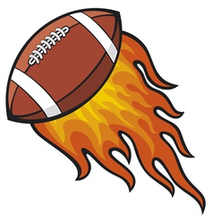 Football in Fire vector