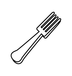 Fork steel silver kitchen icon outline vector