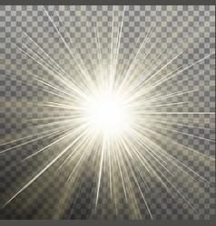 Glow light burst effect on transparent background vector