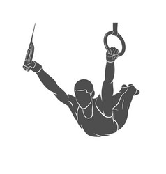 Gymnastics rings sport vector