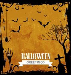 Halloween greeting design vector