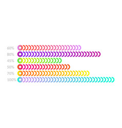 Horizontal bar chart template - business flat vector