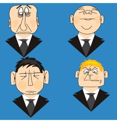 Icons people in suit vector