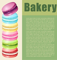 Infographic with text and macaron vector