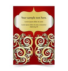 Invitation card wedding card with ornamental vector
