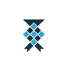 Ketupat colorful icon symbol premium quality vector