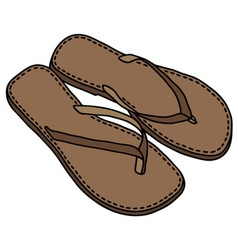 Leather sandals vector