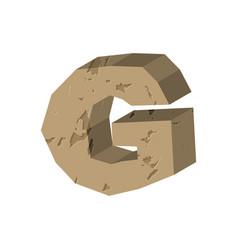 Letter g stone font rock alphabet symbol stones vector