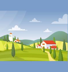 modern village house flat vector image