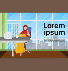 muslim business woman in traditional clothes vector image