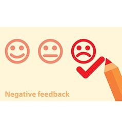 negative feedback concept vector image
