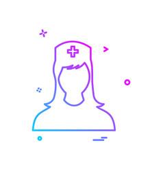 nurse female icon design vector image