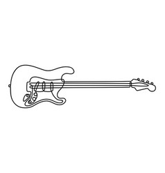One line guitar vector