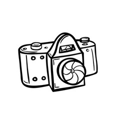 outline of a camera vector image