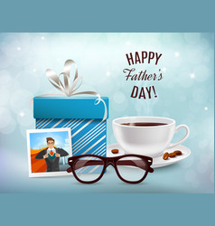 present for daddy composition vector image
