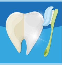professional teeth whitening healthy and yellow vector image