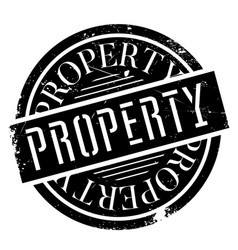 property rubber stamp vector image