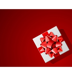red present background vector image