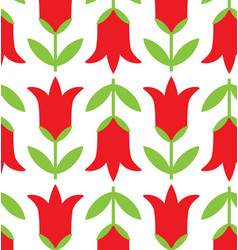 retro geometric flowers pattern 05 vector image