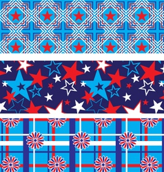 Seamless patriotic backgrounds vector