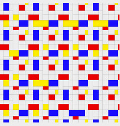 seamless pattern colorful background in mondrian vector image