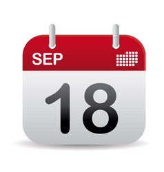 sep calendar stand up vector image