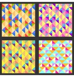 Set of four geometric pattern Texture with vector image