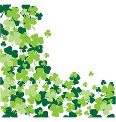 shamrock leaves background vector image